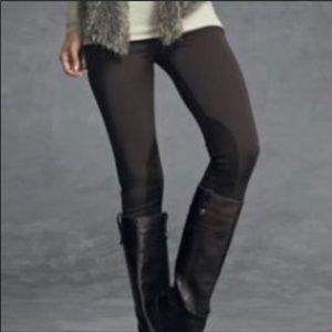 Cabi Midtown Ponte Knit Zipper Ankle Leggings